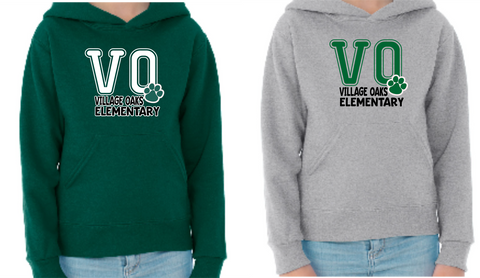 Village Oaks, Option 4, hooded sweatshirt, youth