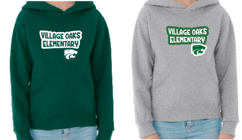 Village Oaks, Option 3, hooded sweatshirt, youth