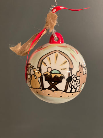 Away in a Manger- Personalized Ornament