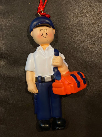 EMT, Male- Personalized Ornament