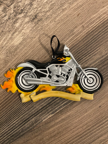 Motorcycle- Personalized Christmas Ornament