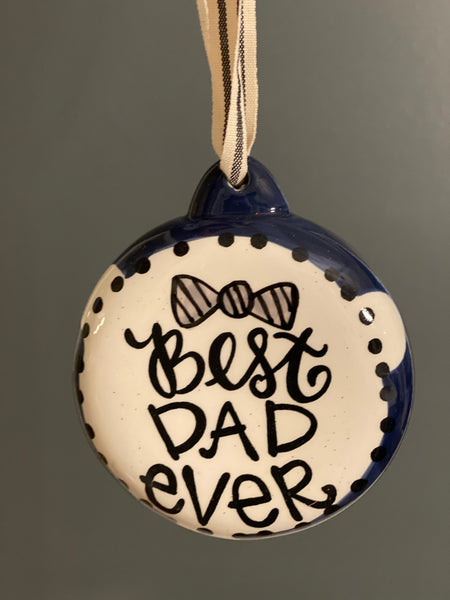 Best Dad Ever Bulb-Personalized Ornament