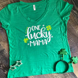 Ladies St. Patrick's Day Shirt- One Lucky Mama