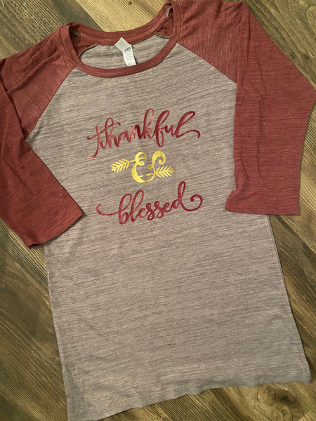 Thankful & Blessed Soft Raglan