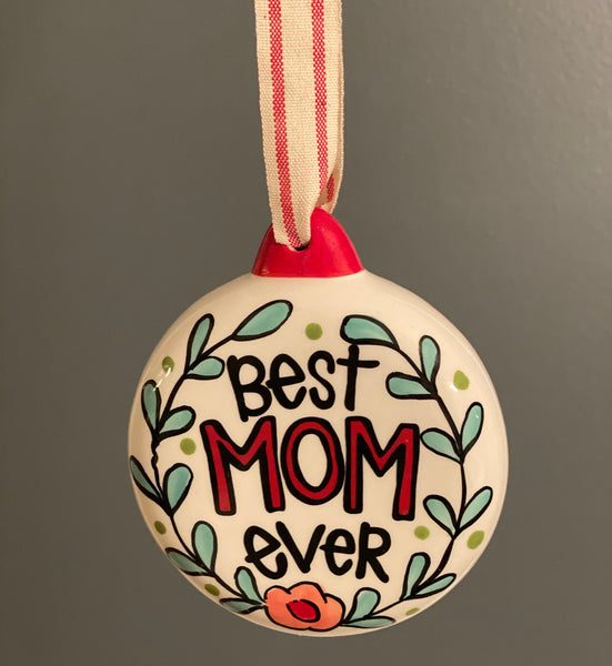 Best Mom Ever Bulb-Personalized Ornament