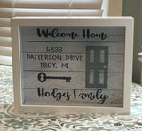 Personalized New Home Frame- Our First House