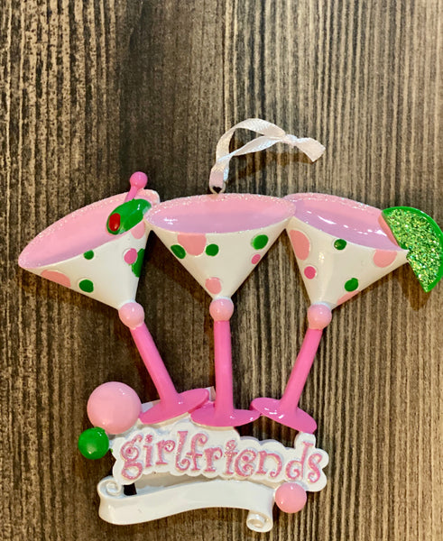 Girlfriends- Personalized Ornament