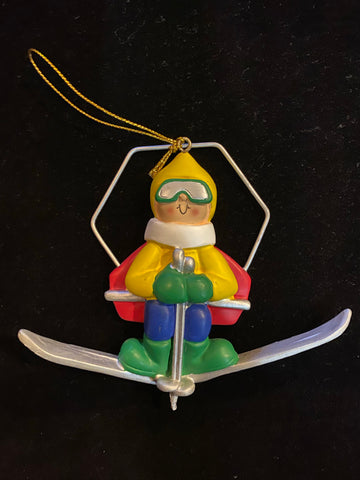 Snow skiier- Personalized Christmas Ornament
