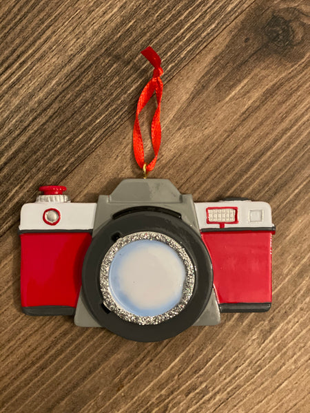Camera/photographer- Personalized Christmas Ornament