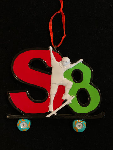 SK8 (Skateboarding)- Personalized Christmas Ornament
