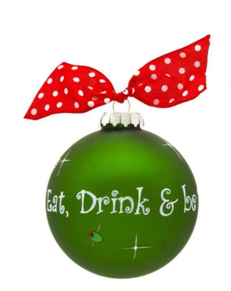 Eat, Drink & Be Merry Glass Bulb