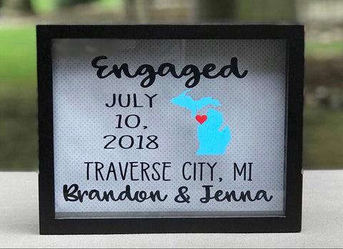 Personalized  Engagement / Wedding Frame