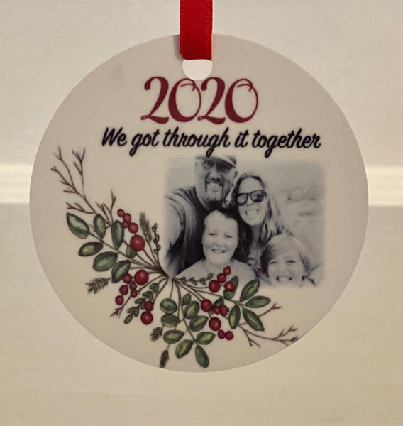 2020 We got through it together metal ornament (Abigail Leigh Designs, limited edition)