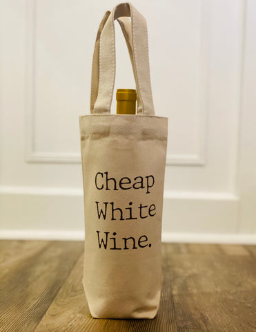 Canvas Wine Bag with Handles