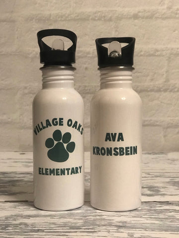 Village Oaks Elementary Personalized Stainless Steel Water Bottle