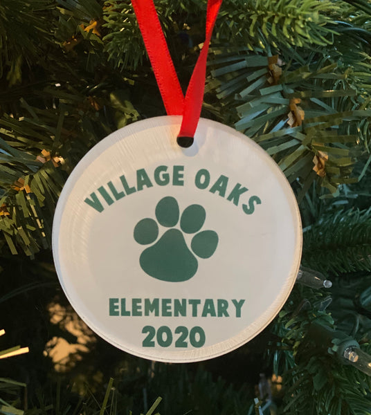 Village Oaks Elementary Acrylic Ornament
