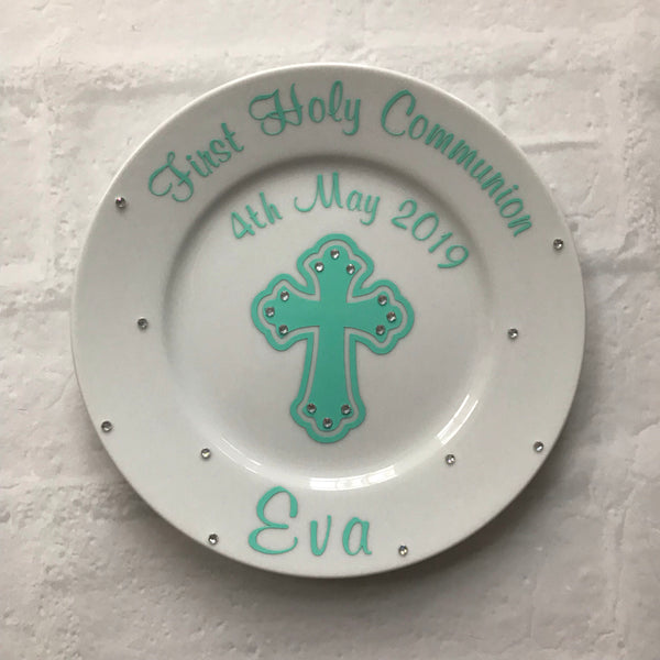 Personalized First Communion Gift,  Plate