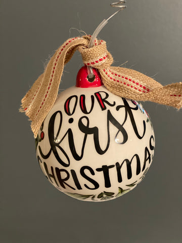 Our First Christmas-Personalized Ornament Bulb