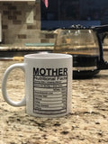 Mother nutritional facts coffee mug  coffee mug