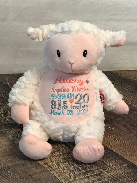 Personalized Lamb Cubbie