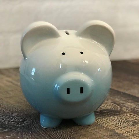 Personalized Blue Ombre Piggy Bank