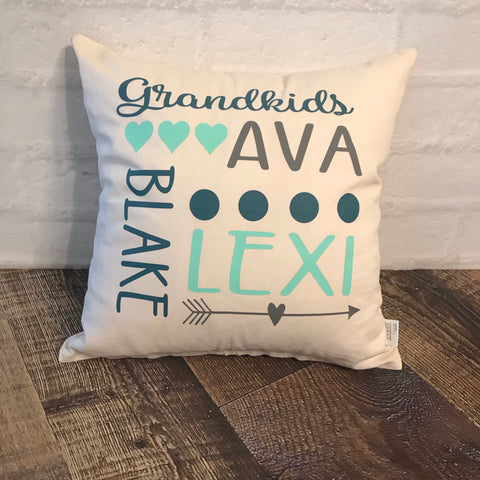 Personalized Grandkids pillow