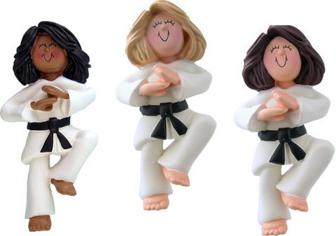 Karate, Female- Personalized Ornament