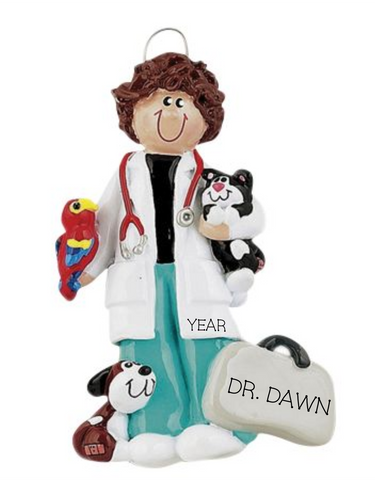 Veterinarian, Female- Personalized Ornament