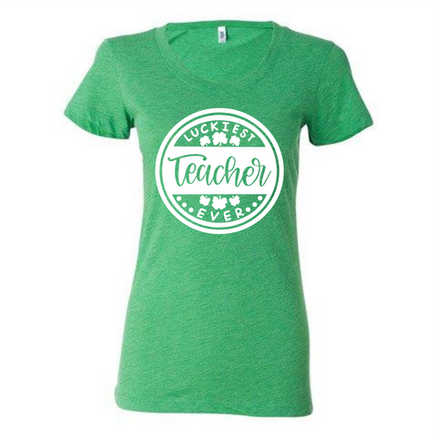 Luckiest Teacher Ever Soft T-shirt