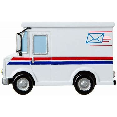 Mail Truck, Mail Carrier- Personalized Ornament