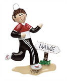 Jogger, Male- Personalized Christmas Ornament