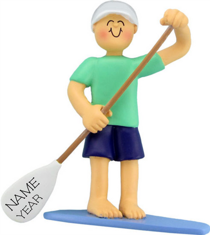 Paddle Boarder Male- Personalized Christmas Ornament