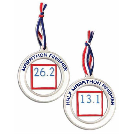 Marathon/Half-Marathon - Personalized Christmas Ornament