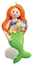 Mermaid Personalized Christmas Ornament