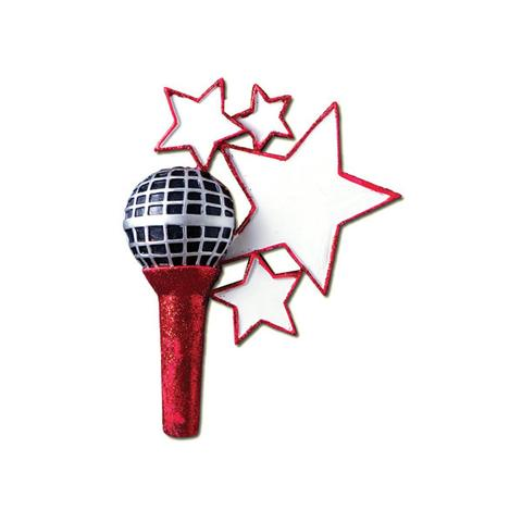 Microphone, singer- Personalized Christmas Ornament