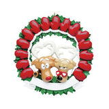 Grandparent Mitten Wreath- Personalized Ornament