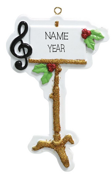 Music Stand- Personalized Christmas Ornament