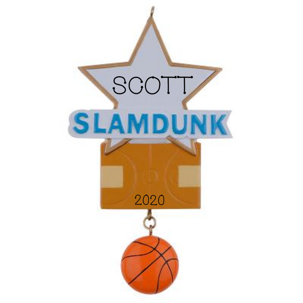 Basketball, Slam Dunk- Personalized Ornament