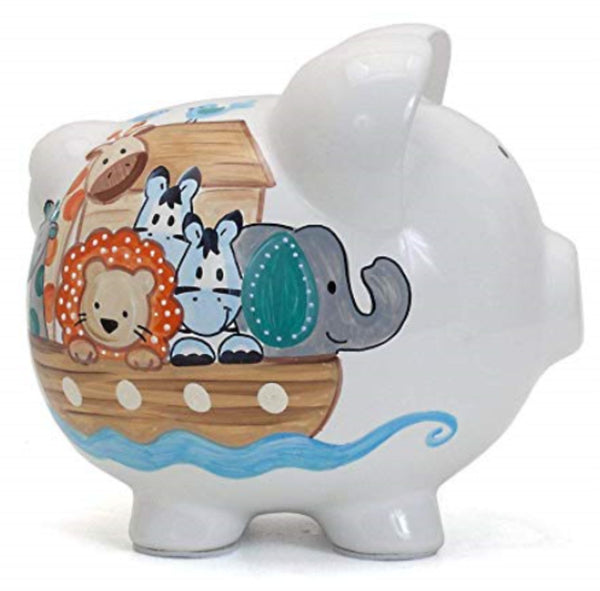 Personalized Noah's Ark Piggy Bank