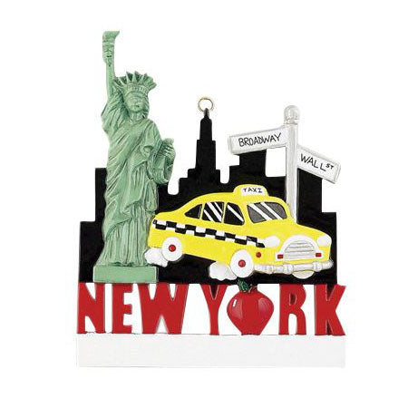 New York- Personalized Christmas Ornament
