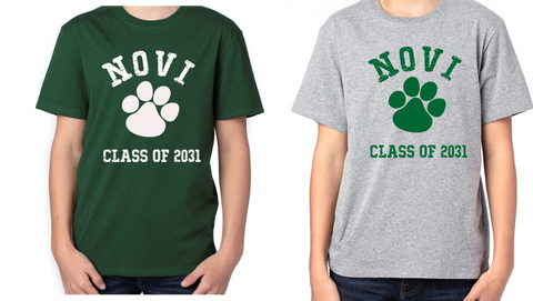 "Village Oaks, option 5, Novi ""Class of"" Poly/Cotton T-shirt, Youth"