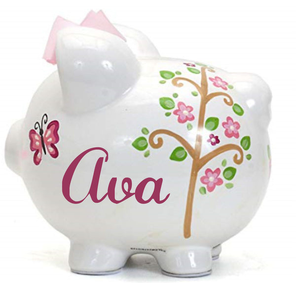 Personalized Pink Owl Piggy Bank