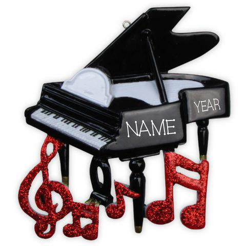 Piano- Personalized Christmas Ornament