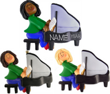 Piano Player Female- Personalized Christmas Ornament