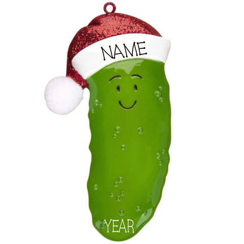 Pickle Ornament- Personalized Christmas Ornament