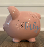 Personalized Night Light Piggy Bank