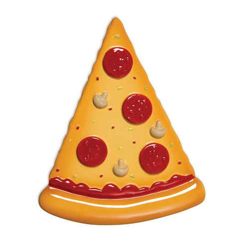 Pizza Slice- Personalized Christmas Ornament