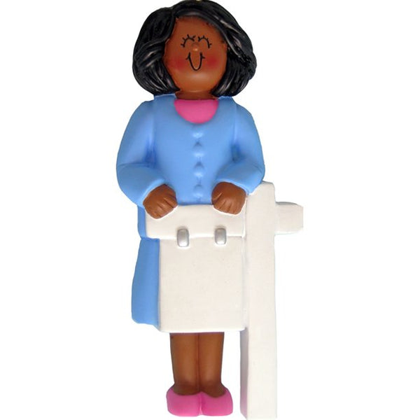 Realtor, Female, Dark Skin- Personalized Ornament