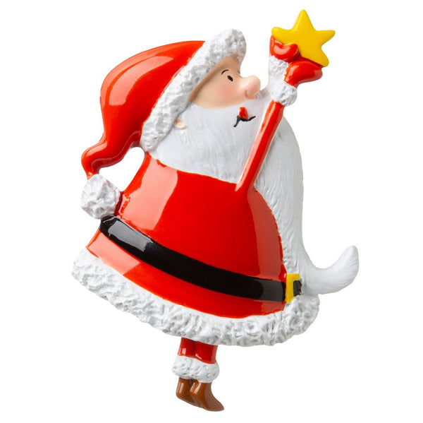 Santa with Star- Personalized Christmas Ornament