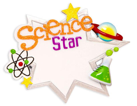 Science Star Christmas Ornament